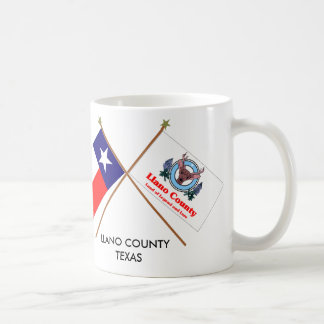 Crossed Flags of Texas and Llano County Coffee Mug