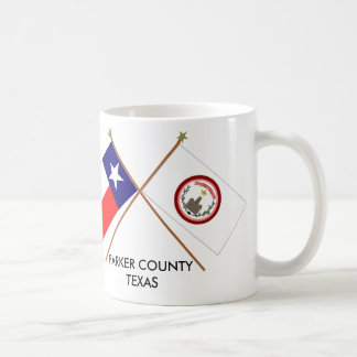Crossed Flags of Texas and Parker County Coffee Mug