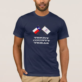Crossed Flags of Texas and Terry County T-Shirt