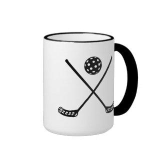 Crossed floorball sticks mugs