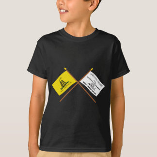 Crossed Gadsden and Culpeper Flags T-Shirt