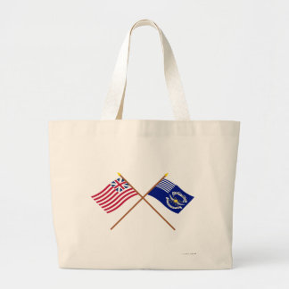 Crossed Grand Union and 2nd Regiment Light Dragoon Jumbo Tote Bag