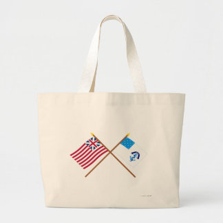 Crossed Grand Union and 2nd Rhode Island Regiment  Canvas Bag