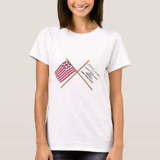 Crossed Grand Union and Culpeper Flags T-Shirt