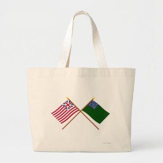 Crossed Grand Union and Green Mountain Boys Flags Tote Bag
