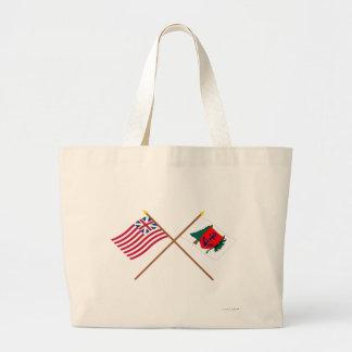 Crossed Grand Union and Newburyport Indep Marine C Tote Bags