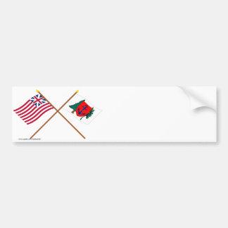 Crossed Grand Union and Newburyport Indep Marine C Bumper Stickers