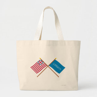 Crossed Grand Union and Schenectady Liberty Flags Bag