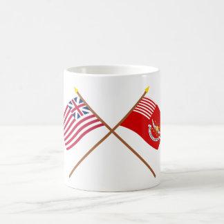Crossed Grand Union and Tallmadge's Dragoons Flags Coffee Mug