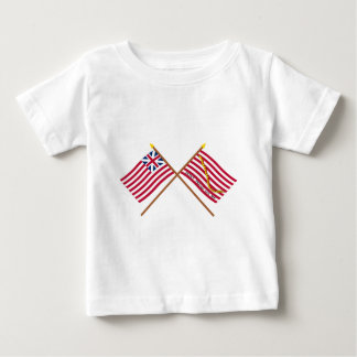 Crossed Grand Union Flag and Navy Jack Baby T-Shirt