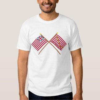 Crossed Grand Union Flag and Navy Jack T-shirts