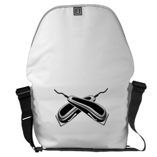 Crossed Hair Clippers Courier Bags