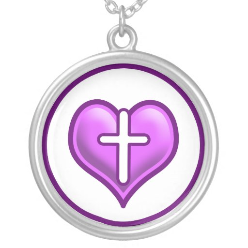 Crossed Hearts Logo Design Personalized Necklace
