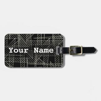Crossed lines luggage tag