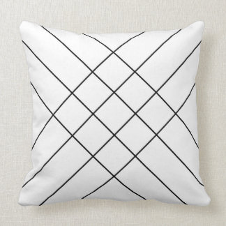 Crossed lining black blank throw pillow