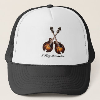CROSSED MANDOLINS-HAT TRUCKER HAT