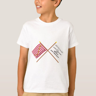 Crossed Navy Jack and Culpeper Flag T-Shirt