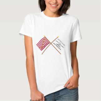 Crossed Navy Jack and Culpeper Flag Tee Shirt