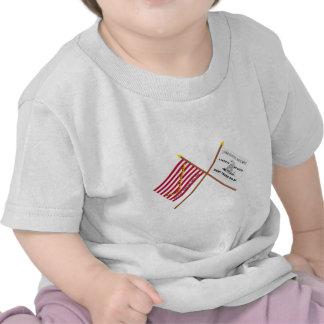Crossed Navy Jack and Culpeper Flag Tee Shirts