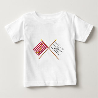 Crossed Navy Jack and Culpeper Flag T Shirts