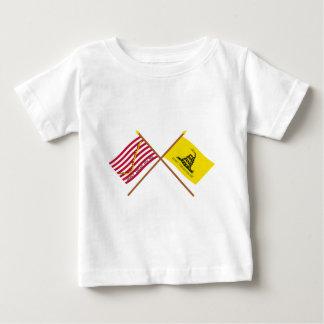 Crossed Navy Jack and Gadsden Flag T-shirt