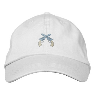 Crossed Pistols Embroidered Hat