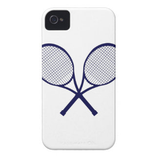 Crossed Rackets Silhouette iPhone 4 Cover