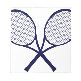 Crossed Rackets Silhouette Notepad