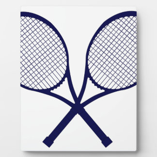 Crossed Rackets Silhouette Plaque