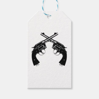 Crossed Revolvers Gift Tags