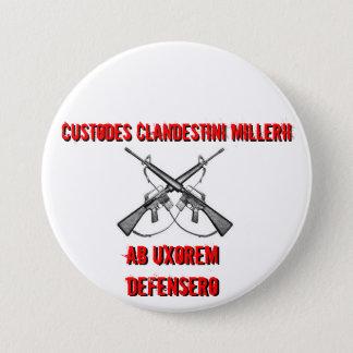 Crossed rifles, Custodes Clandestini Millerii, ... 7.5 Cm Round Badge