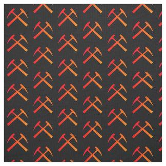 Crossed Rock Hammers Fabric