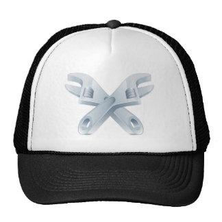 Crossed spanners tool icon trucker hat