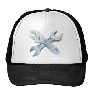 Crossed spanners tools trucker hat
