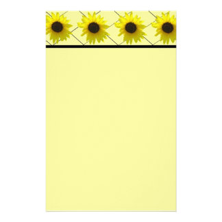 Crossed Sunflower Personalized Stationery