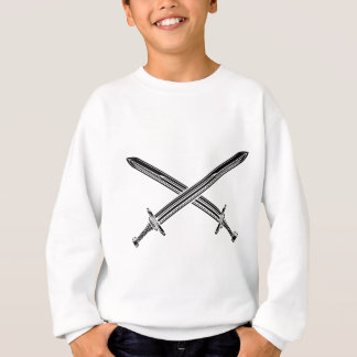 Crossed Swords Illustration Sweatshirt