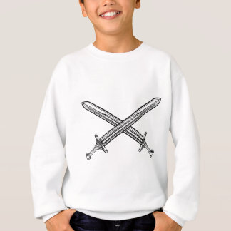 Crossed Swords Retro Style Sweatshirt
