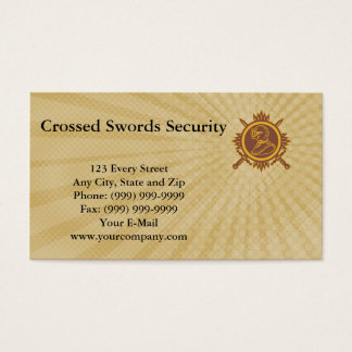 Crossed Swords Security Business Card
