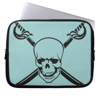 Crossed Swords with Skull Laptop Sleeve