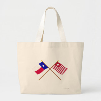 Crossed Texas and Long's Expedition Flags Bags