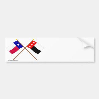 Crossed Texas and Republic of the Rio Grande Flags Bumper Stickers