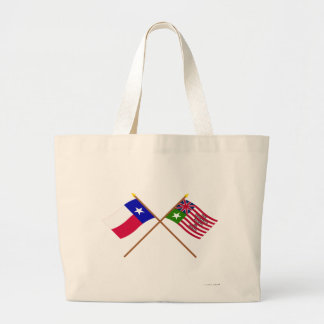 Crossed Texas and San Felipe Flags Canvas Bag