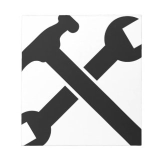 Crossed Tools Notepad