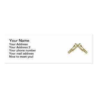 Crossed Trombone Business Cards