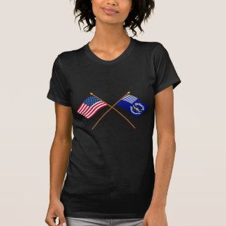 Crossed US and 2nd Regiment Light Dragoons Flags Shirts