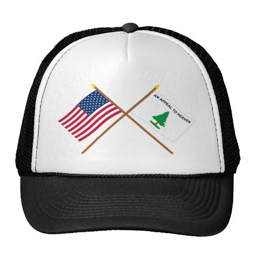 Crossed US and Washington's Cruisers Flags Hat
