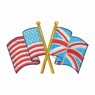 Crossed Usa and Uk Flags