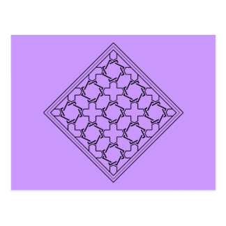crosses and crowns tessellation 2 postcard