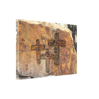 Crosses Petroglyph Canvas Print