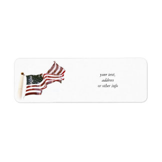 Crosses Within Old Glory - Memorial Day Return Address Label
